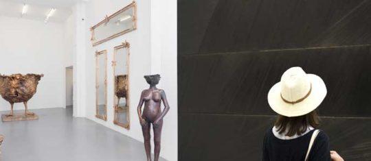 oeuvre réalisée par Pierre Soulages ou Claude Lalanne
